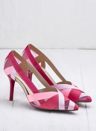 Elle Topuklu Ayakkabı Pembe
